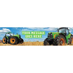 Tractor Time Personalized Banner (Each)