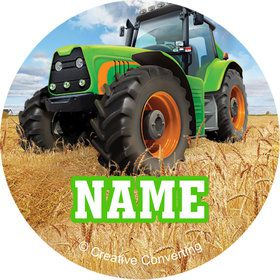 Tractor Time Personalized Mini Stickers (Sheet of 24)