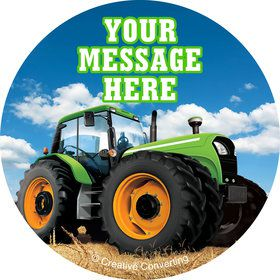 Tractor Time Personalized Stickers (Sheet of 12)