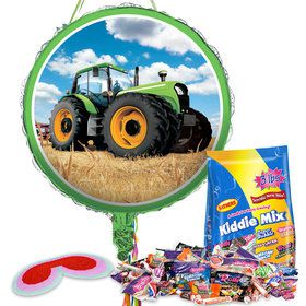 Tractor Time Pull String Economy Pinata Kit