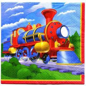 Train Party Napkins (16-pack)