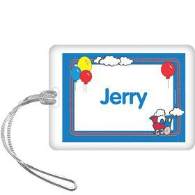 Train Party Personalized Bag Tag (each)