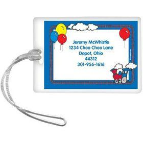 Train Party Personalized Luggage Tag (each)