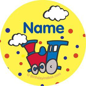 Train Party Personalized Mini Stickers (Sheet of 24)