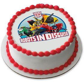 "Transformers 7.5"" Round Edible Cake Topper (Each)"