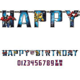Transformers Add-An-Age Letter Banner (Each)