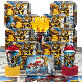 Transformers Birthday Party Deluxe Tableware Kit Serves 8