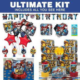 Transformers Birthday Party Ultimate Tableware Kit Serves 8
