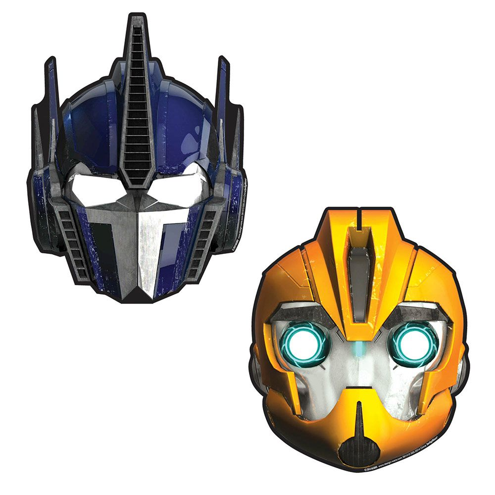 Transformers Paper Masks (8 Pack) - Party Supplies BB361413