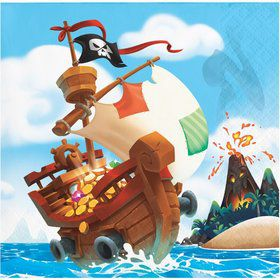 Treasure Island Pirate Beverage Napkin (16)