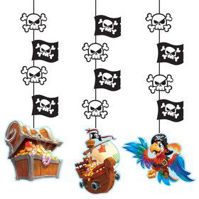 Treasure Island Pirate Hanging Decorations (3)