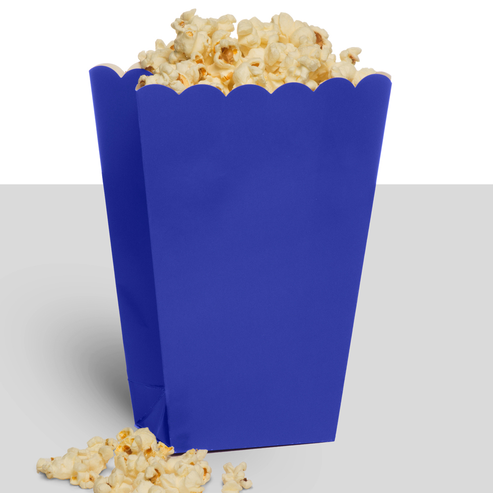 Treat Popcorn Box Blue (10 Pack) - Party Supplies