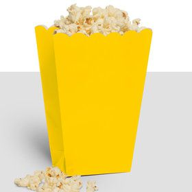Treat Popcorn Box Yellow (10 Pack)
