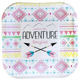 """Tribal Girl Party Plates - 7"""" (8)"""
