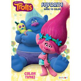 Trolls Coloring Book (32 Pages)