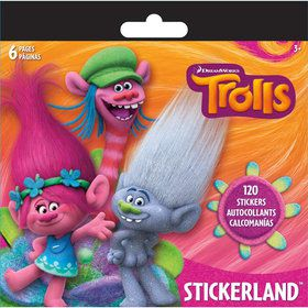 Trolls Mini Sticker Pad (6 Sheets)