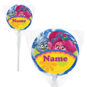 "Trolls Party Personalized 2"" Lollipops (20 Pack)"