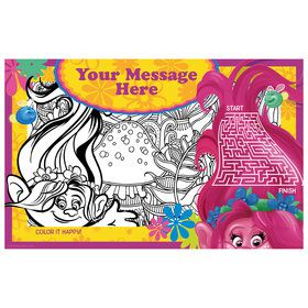 Trolls Party Personalized Activity Mat (8 Count)