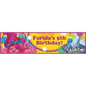 Trolls Party Personalized Banner (Each)