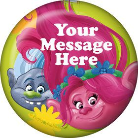 Trolls Party Personalized Button (Each)