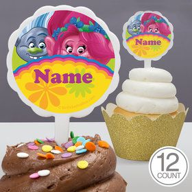 Trolls Party Personalized Cupcake Picks (12 Count)