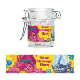 Trolls Party Personalized Glass Apothecary Jars (12 Count)