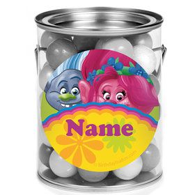 Trolls Party Personalized Mini Paint Cans (12 Count)
