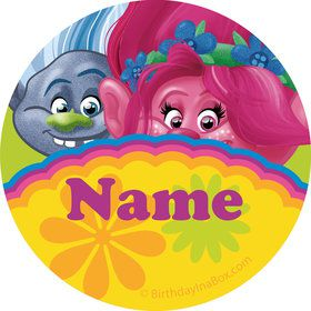 Trolls Party Personalized Mini Stickers (Sheet of 24)