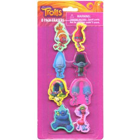 Trolls Shaped Erasers (8 Count)