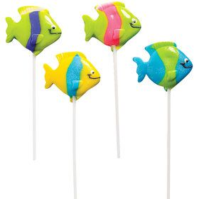 Tropical Fish Lollipops