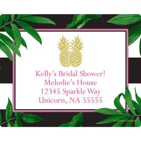 Tropical Pineapple Personalized Address Labels (Sheet of 15)