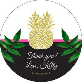 Tropical Pineapple Personalized Stickers (Sheet of 12)