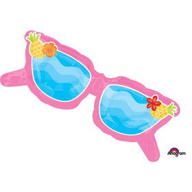"Tropical Sunglasses 37"" Balloon (Each)"