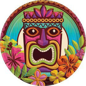 "Tropical Tiki 7"" Cake Plates (60 Pack)"