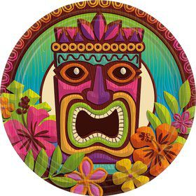 "Tropical Tiki 9"" Luncheon Plates (60 Pack)"