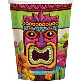 Tropical Tiki 9Oz Cups (50 Pack)