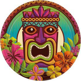 Tropical Tiki Lunch Plates (60)