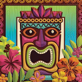 Tropical Tiki Luncheon Napkins (125 Pack)
