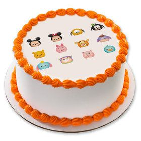 "Tsum Tsum 7.5"" Round Edible Cake Topper (Each)"