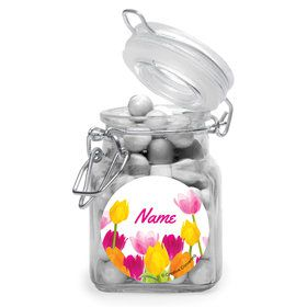 Tulips Personalized Glass Apothecary Jars (12 Count)