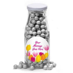 Tulips Personalized Glass Milk Bottles (10 Count)