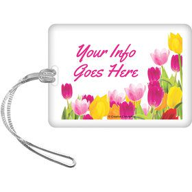 Tulips Personalized Luggage Tag (Each)
