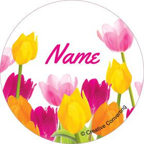Tulips Personalized Mini Stickers (Sheet of 20)