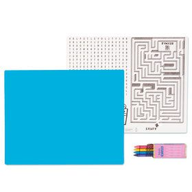Turquoise Activity Placemat Kit for 4