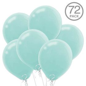Turquoise Latex Balloons (72 Count)