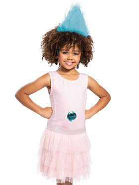 Turquoise Trolls Child Headband With Gem