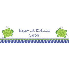 Turtle Party Personalized Banner (each)