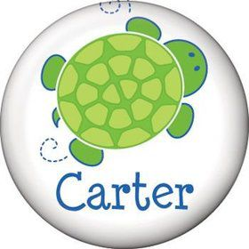 Turtle Party Personalized Mini Button (each)