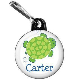 Turtle Party Personalized Mini Zipper Pull (each)