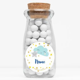"""Twinkle Little Star Personalized 4"""" Glass Milk Jars (12 Count)"""